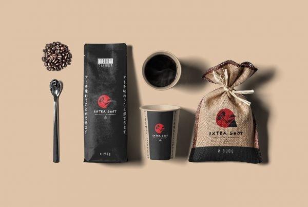 Extra shot coffee Branding - MJ Design Center