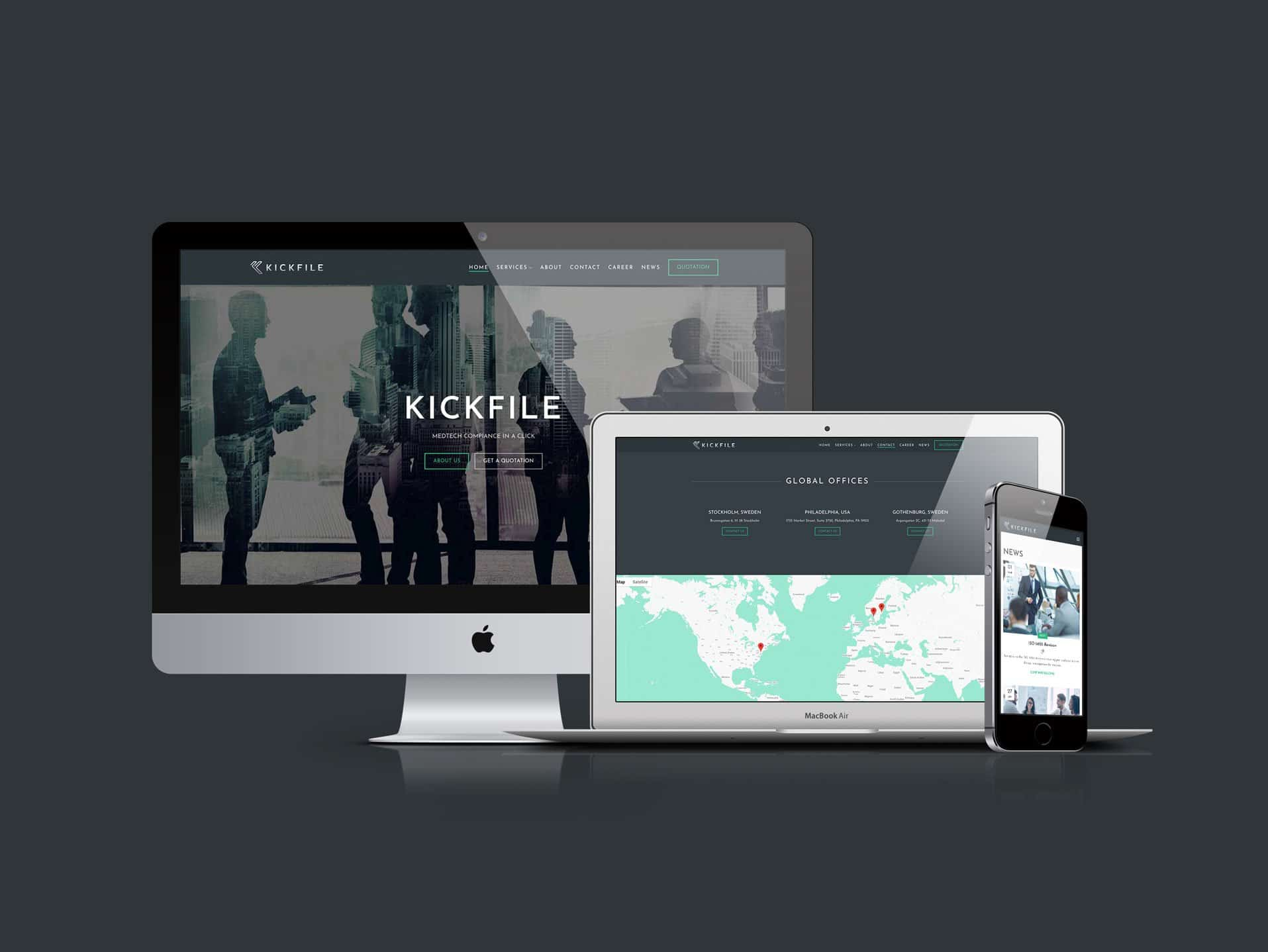 Kickfie Website Cover Page - MJ Design Center