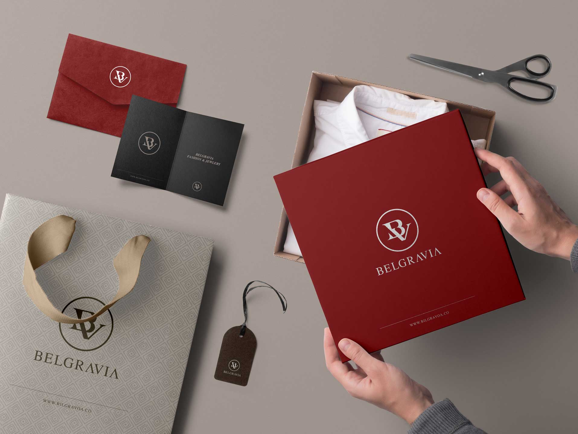 Belgravia Logo Branding - MJ Design Center
