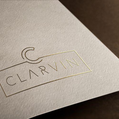 CLARVIN Logo Branding - Mj Design Center
