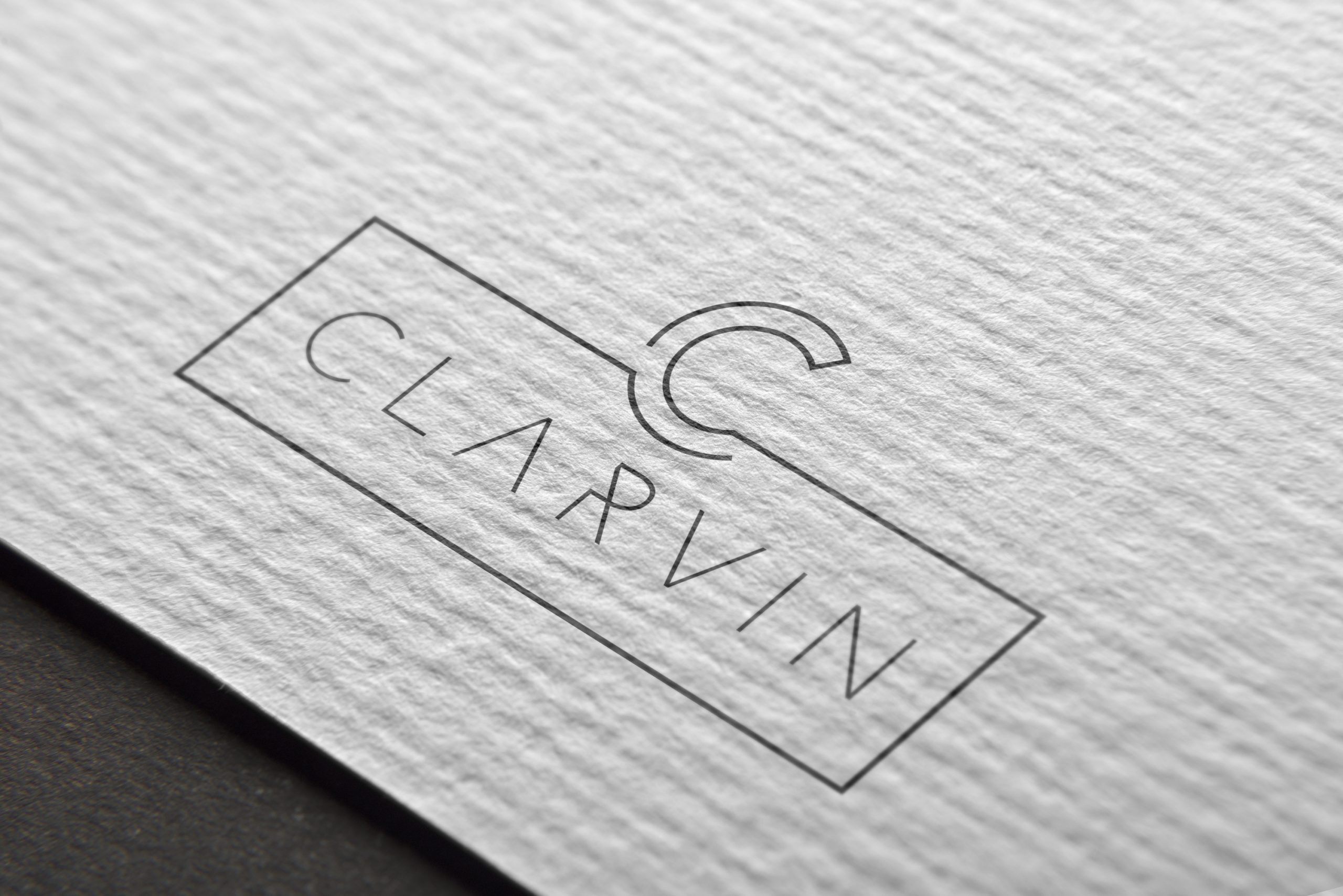 CLARVIN Logo Branding - Mj Design Center