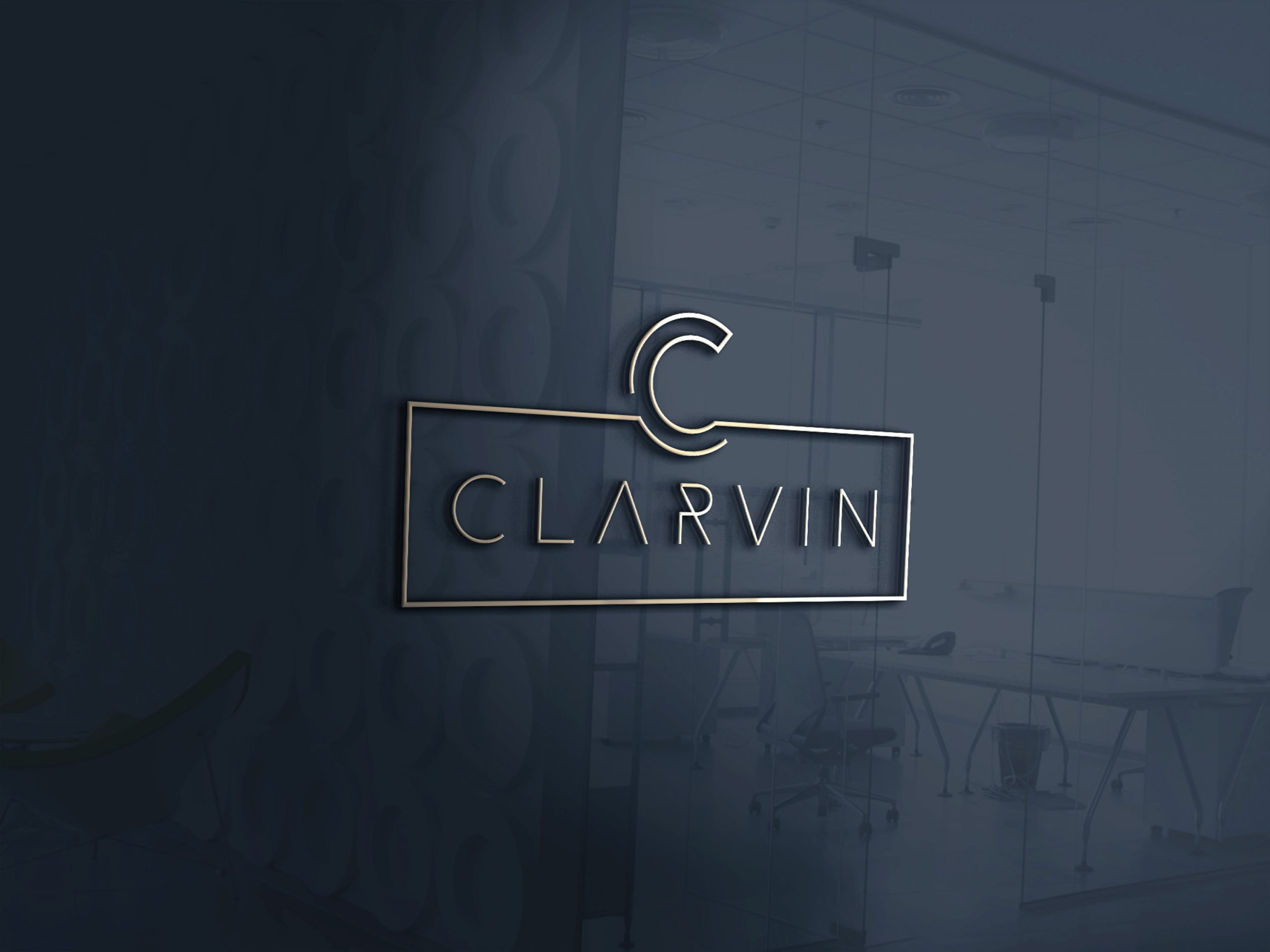 CLARVIN Logo - Mj Design Center