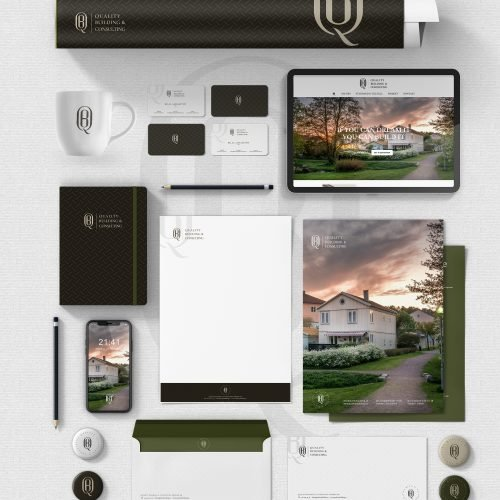 Qulaity Building And Consulting Stationary Branding - Mj Design Center