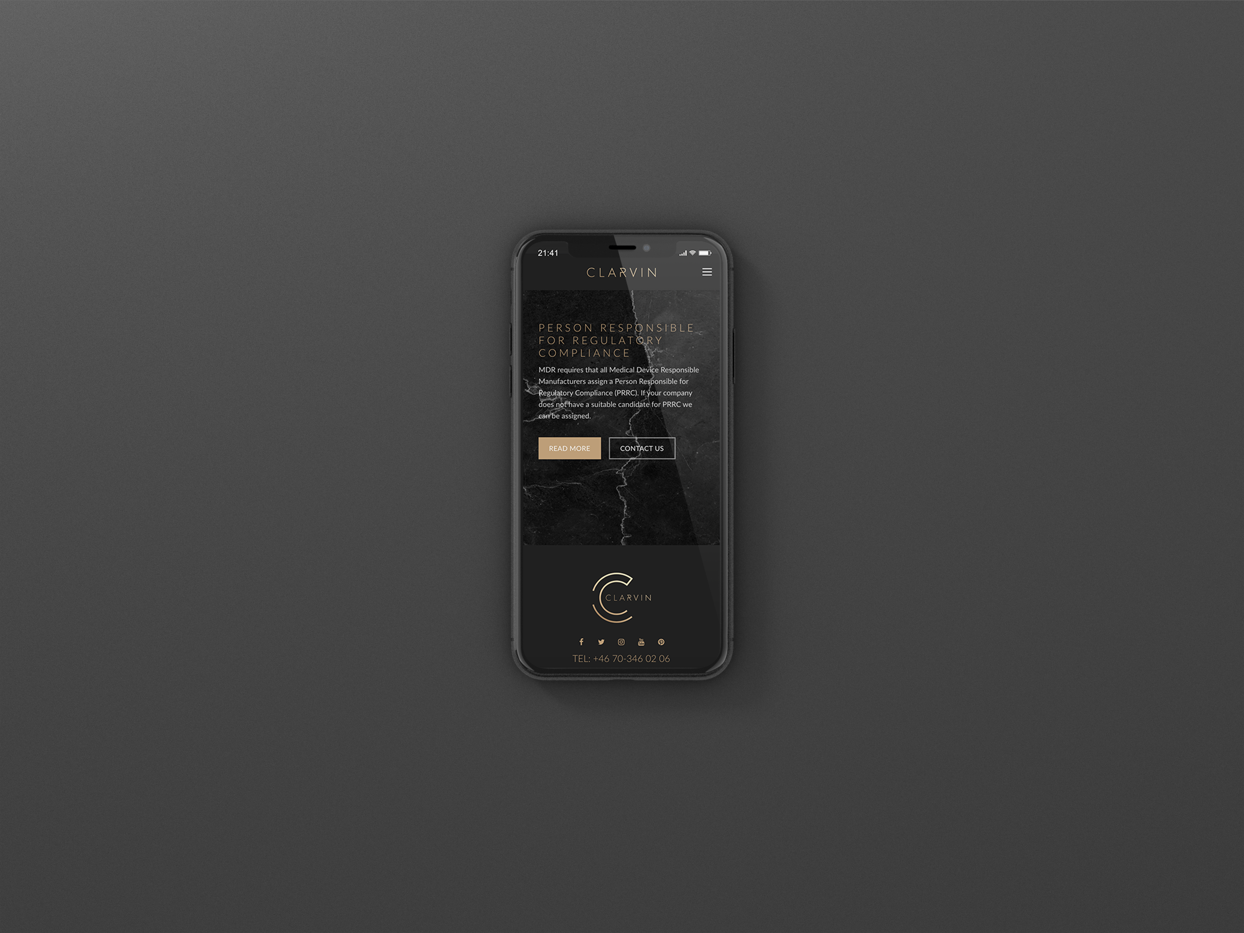 CLARVIN I phone Branding - Mj Design Center