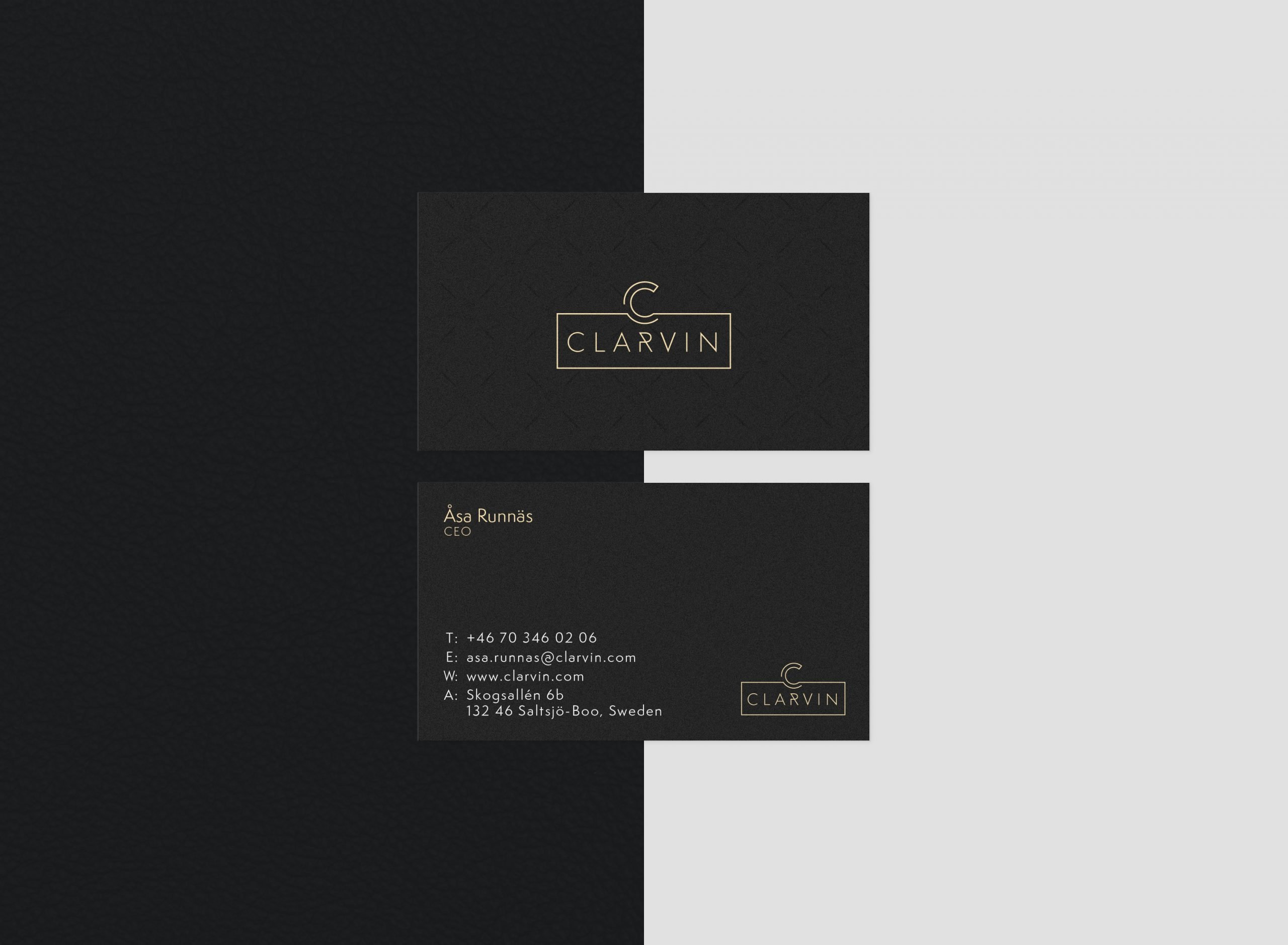 CLARVIN Business Card - Mj Design Center
